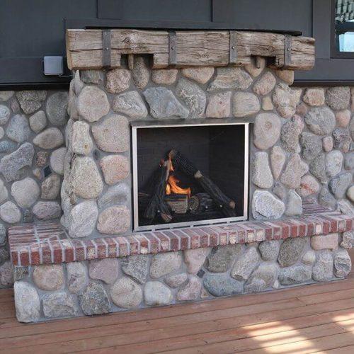 Cobble - Landscape Fireplace